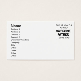Awesome Father Business Card
