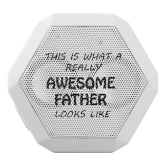 Awesome Father White Bluetooth Speaker