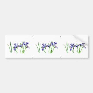 Awesome Feminine Blue Iris Design Photo Bumper Sticker