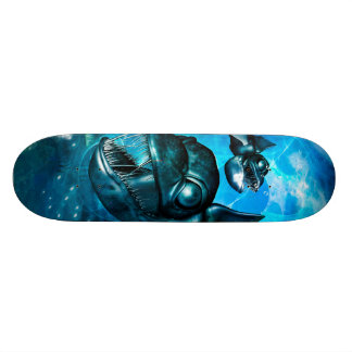 Awesome fish skateboard deck