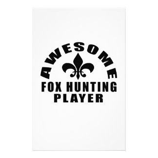 AWESOME FOX HUNTINGPLAYER PERSONALIZED STATIONERY