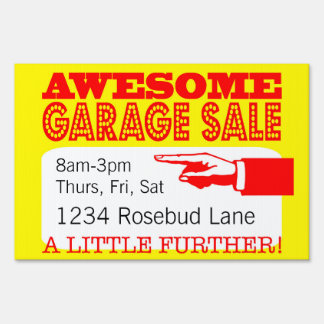 Awesome Garage Sale Sign | A Little Further