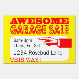 Awesome Garage Sale Sign | This Way, Over Here