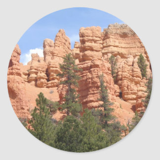Awesome Geologic Formations at Red Canyon, Utah Round Sticker