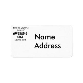 Awesome Gigi Label