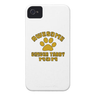 AWESOME GINGER TABBY MOM Case-Mate iPhone 4 CASES