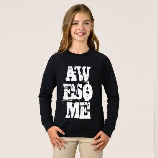 Awesome Girl Typography Inspirational Motivational Sweatshirt