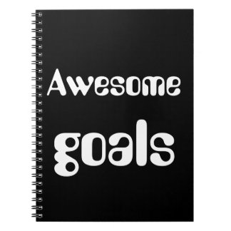 AWESOME GOALS SPIRAL NOTE BOOKS