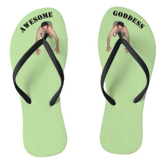 Awesome Goddess Flip Flops (NARROW STRAPS)
