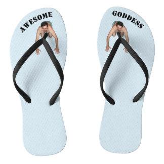 Awesome Goddess Flip Flops (NARROW STRAPS)