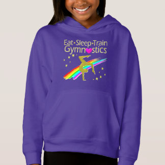 AWESOME GOLD AND PURPLE GYMNASTICS DESIGN