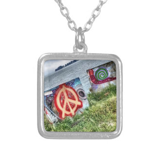 Awesome Graffiti Art in Berkeley California Silver Plated Necklace
