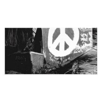 awesome graffiti peace photo greeting card