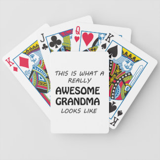 Awesome Grandma Bicycle Playing Cards