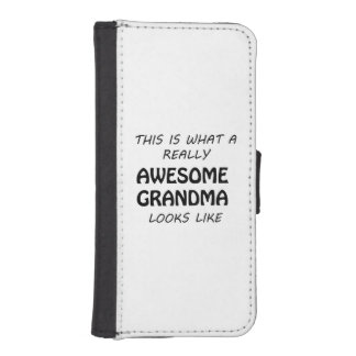 Awesome Grandma iPhone SE/5/5s Wallet Case