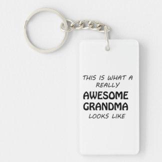 Awesome Grandma Keychain