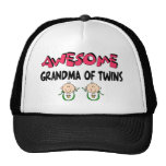 AWESOME GRANDMA of TWINS Mesh Hats