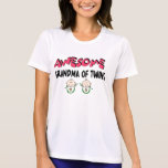 AWESOME GRANDMA of TWINS Tshirts