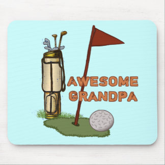 Awesome Grandpa Golf Mouse Pad