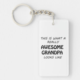 Awesome Grandpa Keychain