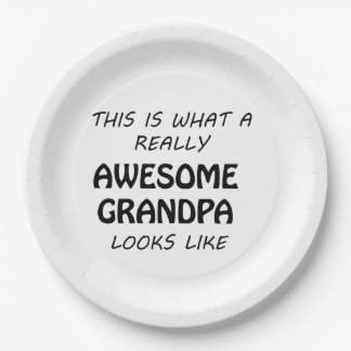 Awesome Grandpa Paper Plate