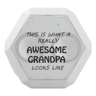 Awesome Grandpa White Bluetooth Speaker