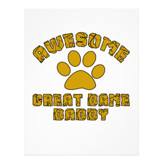AWESOME GREAT DANE DADDY CUSTOMIZED LETTERHEAD