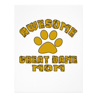 AWESOME GREAT DANE MOM CUSTOMIZED LETTERHEAD