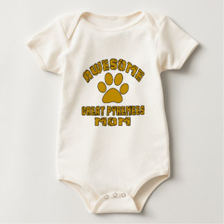 AWESOME GREAT PYRENEES MOM BABY BODYSUIT