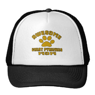 AWESOME GREAT PYRENEES MOM TRUCKER HAT