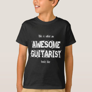 awesome guitarist statement slogan T-Shirt