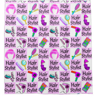 AWESOME HAIR STYLIST SHOWER CURTAIN