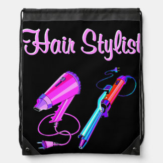 AWESOME HAIR STYLIST TEES AND GIFTS DRAWSTRING BAGS