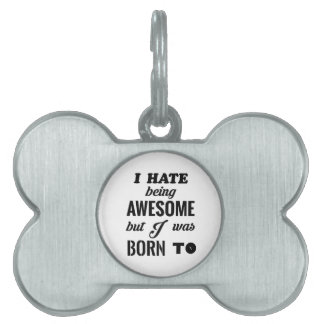 Awesome halloween pet tag