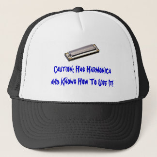 Awesome Harmonica Hat! Trucker Hat