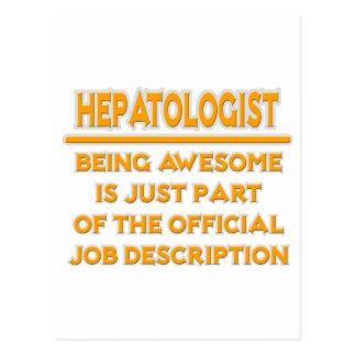 Awesome Hepatologist .. Job Description Postcard