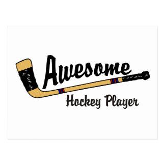 Awesome Hockey Player Postcard