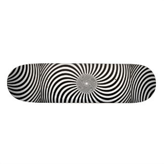 Awesome hypnotic 3D Skateboard. Skate Board Deck