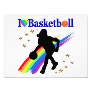 AWESOME I LOVE BASKETBALL DESIGN PHOTO PRINT