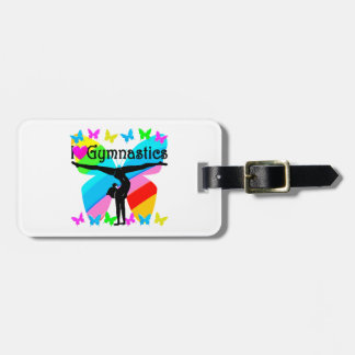 AWESOME I LOVE GYMNASTICS BUTTERFLY DESIGN LUGGAGE TAG