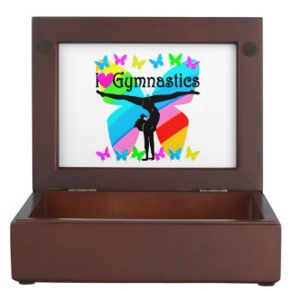 AWESOME I LOVE GYMNASTICS BUTTERFLY DESIGN MEMORY BOXES