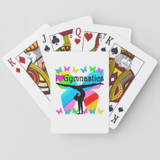 AWESOME I LOVE GYMNASTICS BUTTERFLY DESIGN POKER DECK