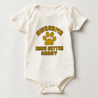 AWESOME IRISH SETTER DADDY BABY BODYSUIT