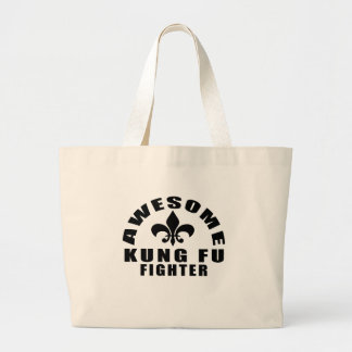 AWESOME KUNG FU FIGHTER LARGE TOTE BAG