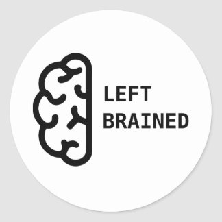 Awesome Left Brained sticker