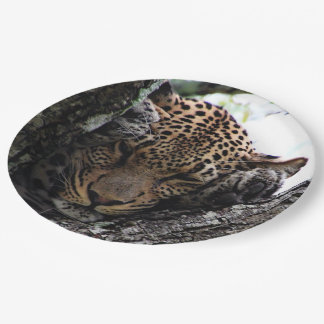 Awesome Leopard 9 Inch Paper Plate