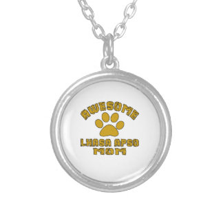 AWESOME LHASA APSO MOM SILVER PLATED NECKLACE