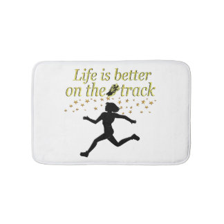 AWESOME LIFE IS BETTER ON THE TRACK DESIGN BATH MAT