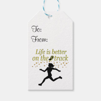 AWESOME LIFE IS BETTER ON THE TRACK DESIGN PACK OF GIFT TAGS