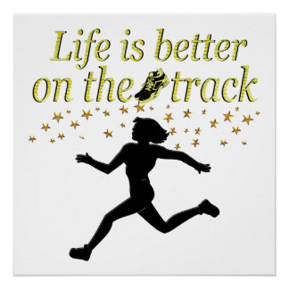 AWESOME LIFE IS BETTER ON THE TRACK DESIGN PERFECT POSTER